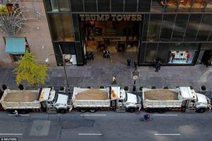 Nơi ở của Trump bỗng dày đặc mật vụ, xe tải bảo vệ